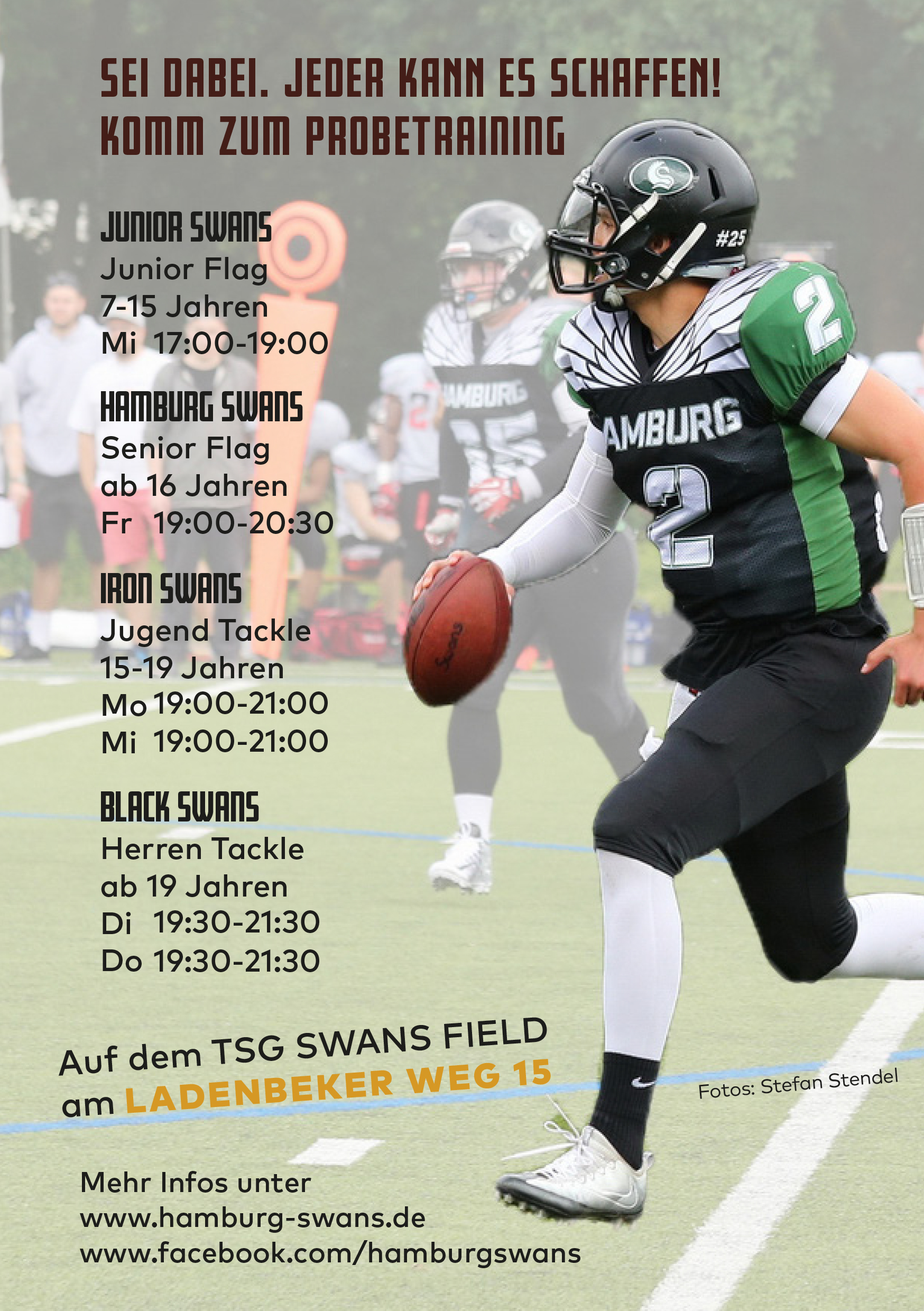 Gameday der Hamburg Swans